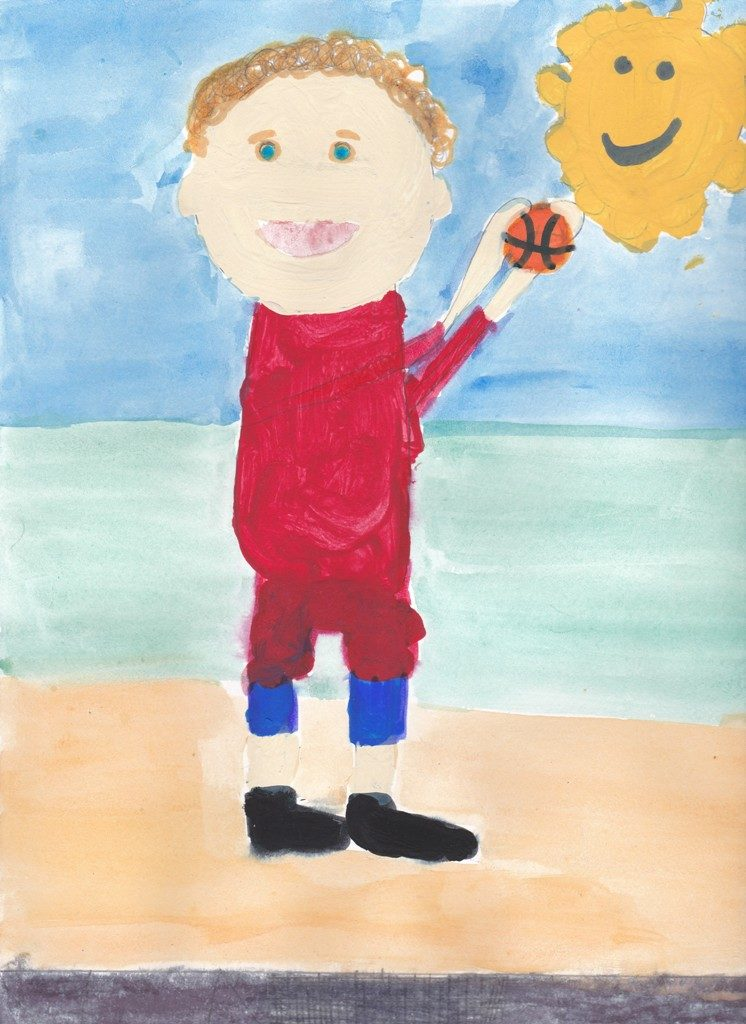 Acrylics on paper (Adam 9 years old)