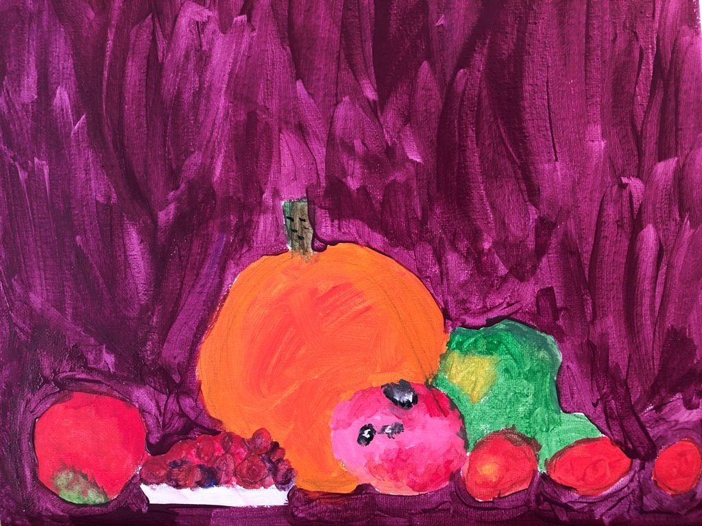 Acrylics on canvas (Aubrea 7 years old)