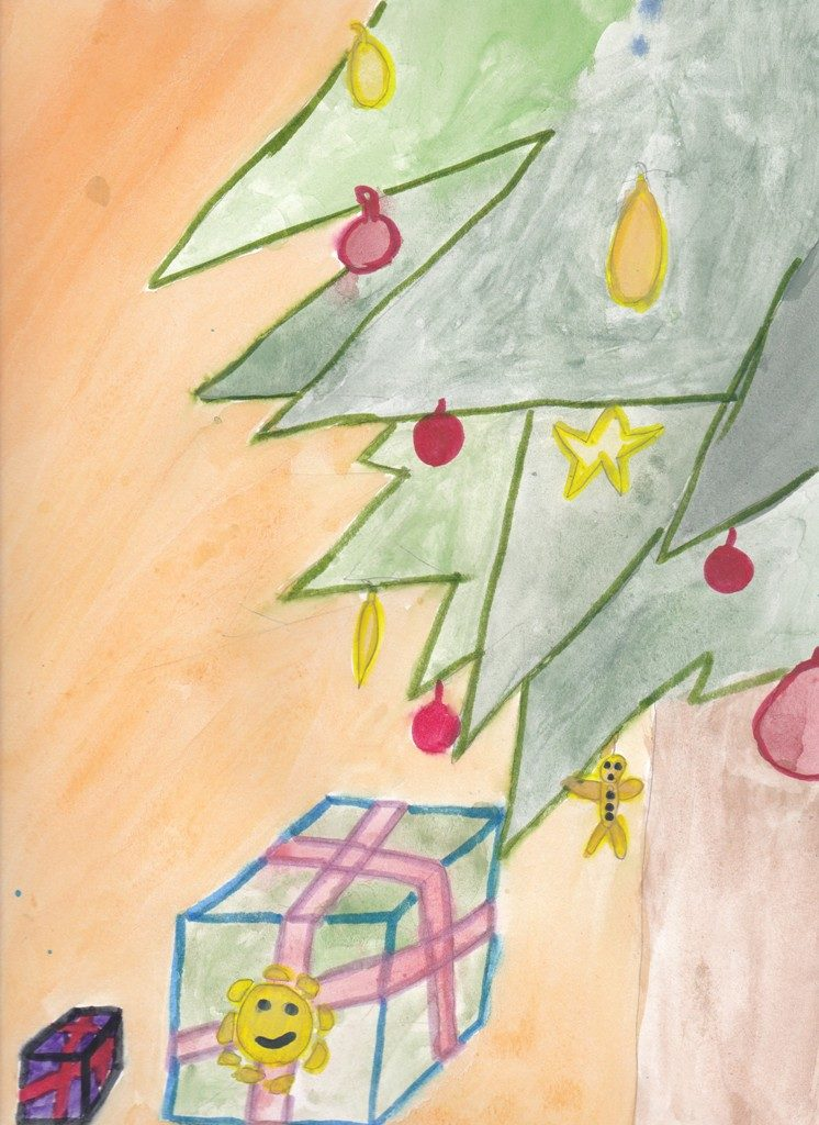 Watercolours on paper (Coes 9 years old)
