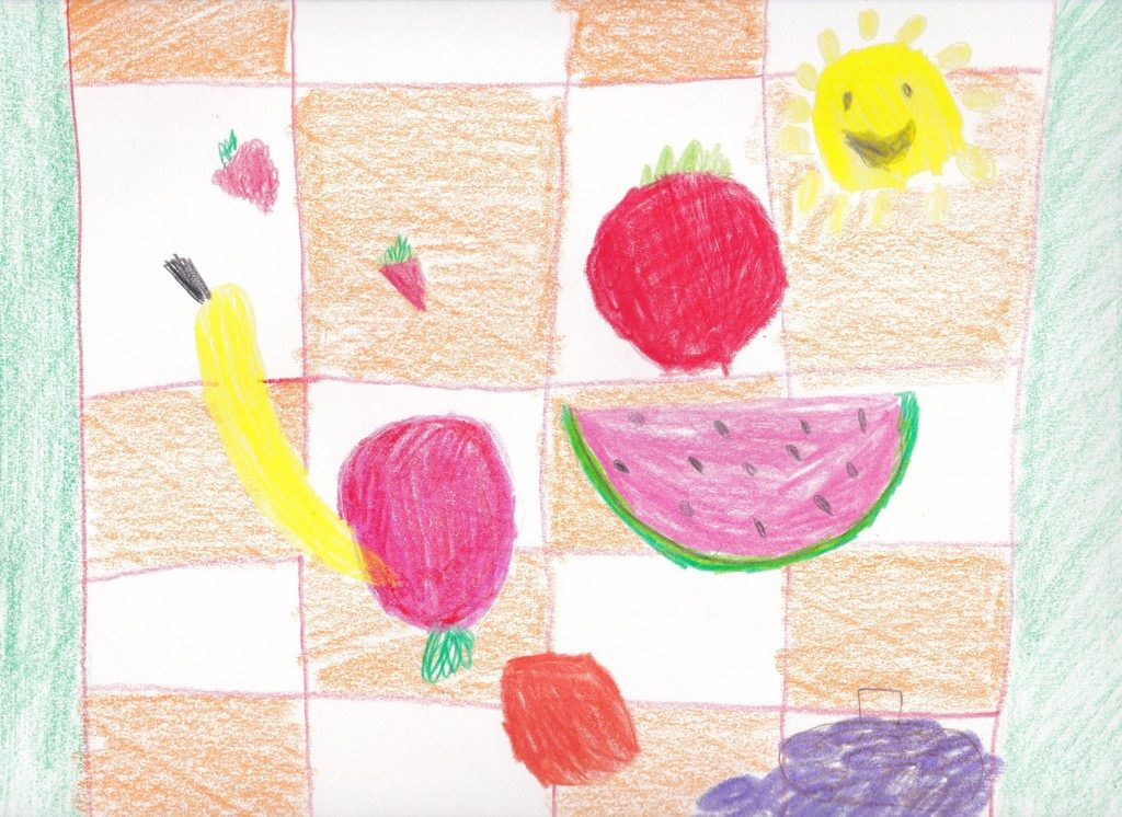 Pencil crayons on paper (Hudson 9 years old)