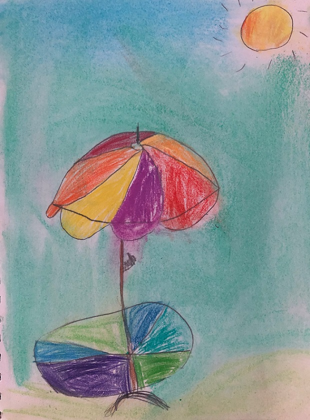 Pastels on paper (Aubrea 7 years old)