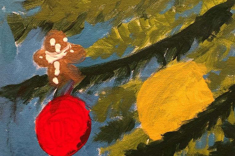 Acrylics on canvas (Anna 4 years old)
