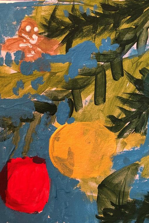 Acrylics on canvas (Aidan 5 years old)