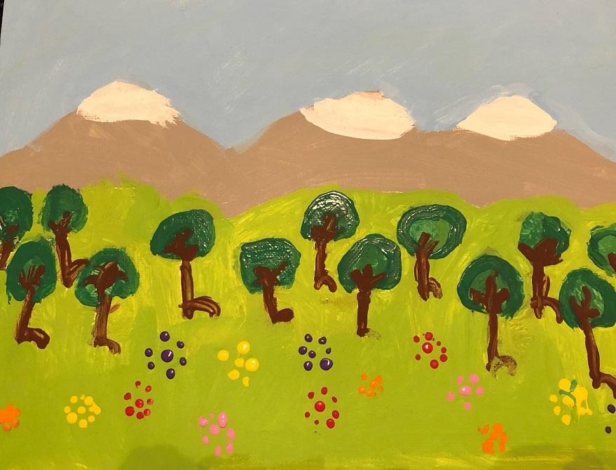 Acrylics on canvas (Nova 6 years old)