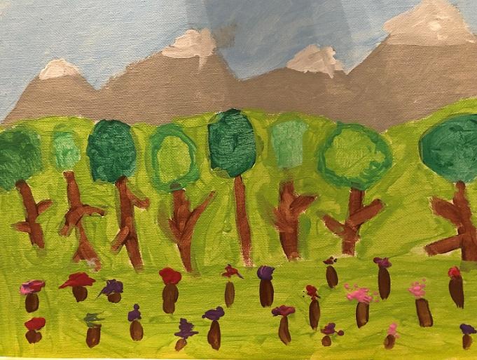 Acrylics on canvas (Viviane 9 years old)