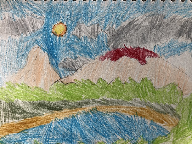 Pencil crayons on paper (Anna 4 years old)