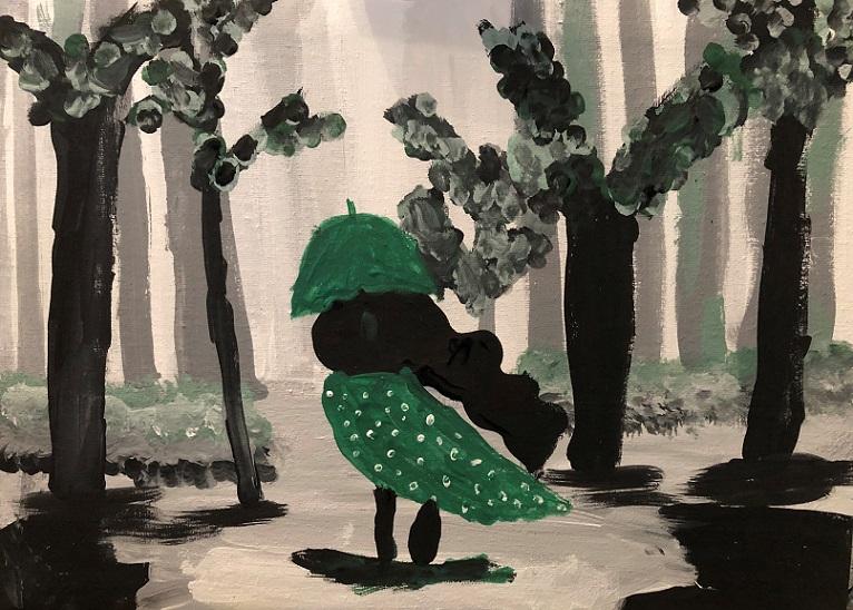 Acrylic paints on the canvas (Alaina 11 years old)