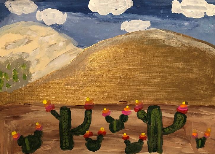 Acrylic paint on canvas (Alaina 11 years old)