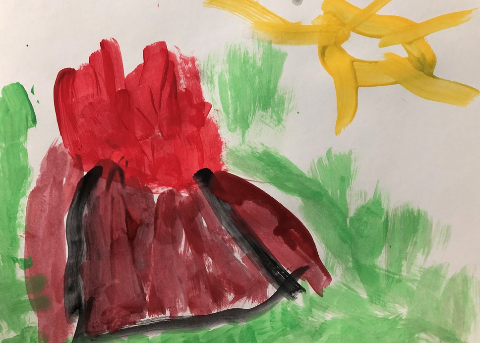 Acrylic paint on the paper (Jack 4 years old)