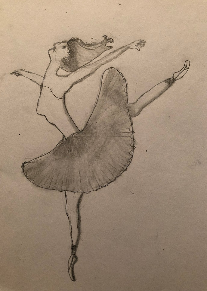 Pencil on the paper (Aubrea 7 years old)