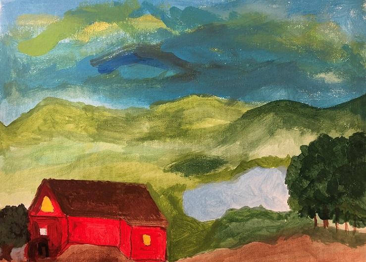 Acrylic paint on canvas (Betty)