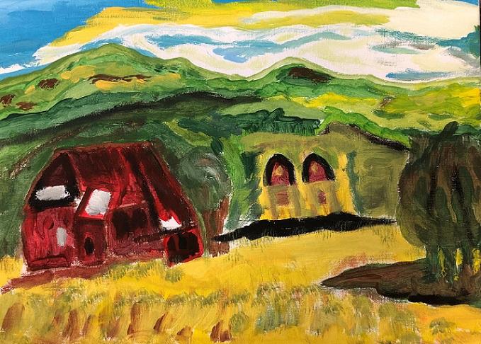 Acrylic paint on canvas (Judy)