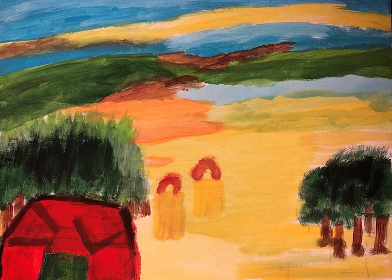 Acrylic paint on canvas (Mary)