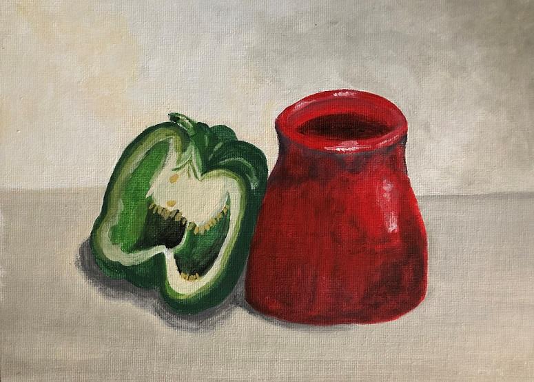 Acrylic paint on canvas (Debby)